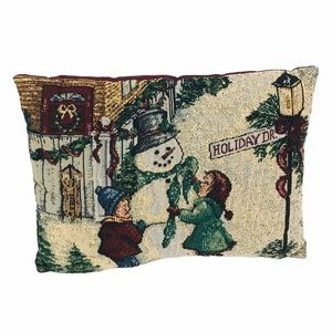 Frosty The Snowman Holiday Drive Decorative Pillow